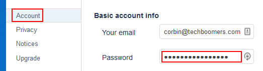 How to change your password on Pandora