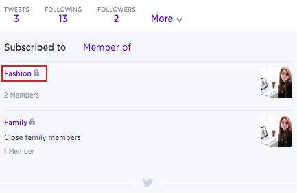 Edit Twitter List