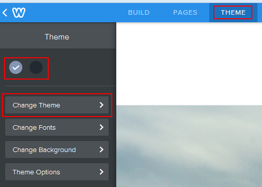 Changing the theme of your website