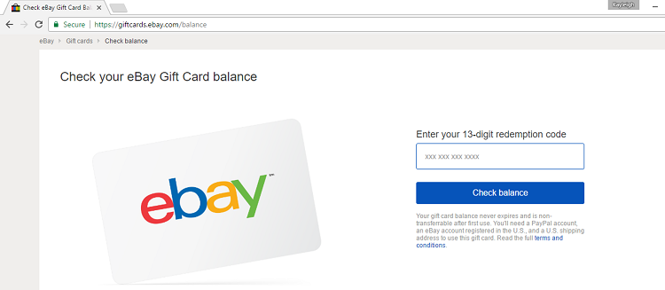 How To Check Your Ebay Gift Card Balance Techboomers