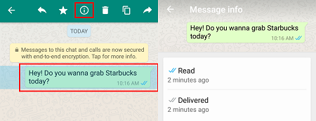 WhatsApp message info button