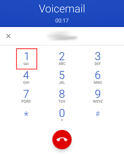 Tap dial pad key to check voicemail messages
