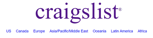 Choose location for Craigslist