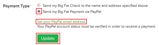 How to choose the way in which you receive money from Ebates