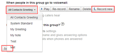 How to change your voicemail greeting on google voice choose new group voicemail m4hsunfo