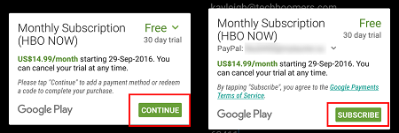 Choose a payment plan and click Subscribe