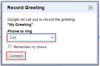 How to change your voicemail greeting on google voice choose phone to record greeting m4hsunfo