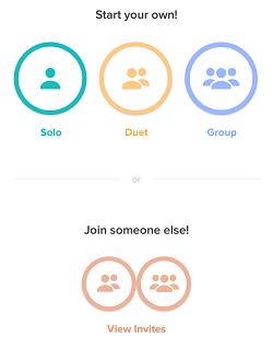 Choose number of singers
