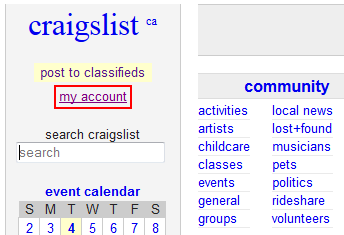How to Reset a Craigslist Password - Free Craigslist tutorials