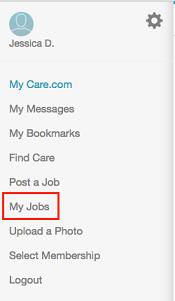 My Jobs button on main menu