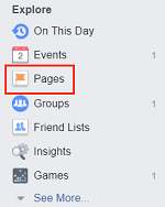 Pages button