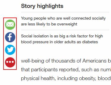 CNN.com article sharing options