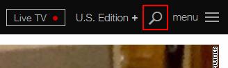 The CNN.com search icon