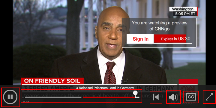 The CNN Go video interface