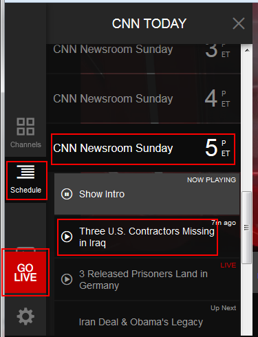 How to view the CNN Go schedule
