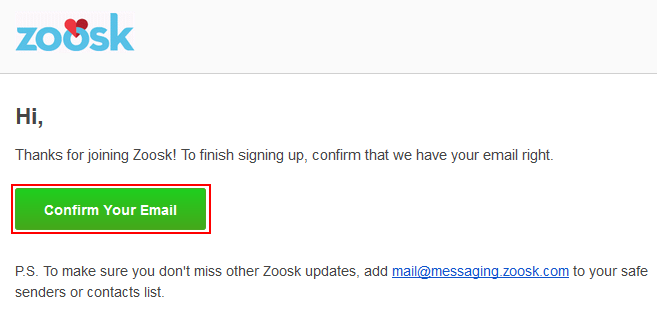 Mail messaging zoosk com
