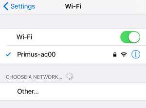 Connect to WiFi network