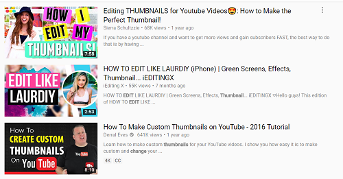 Cool titles and thumbnails