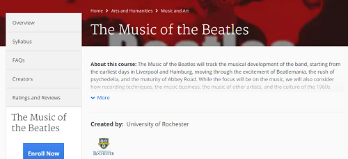 Coursera music lesson course outline