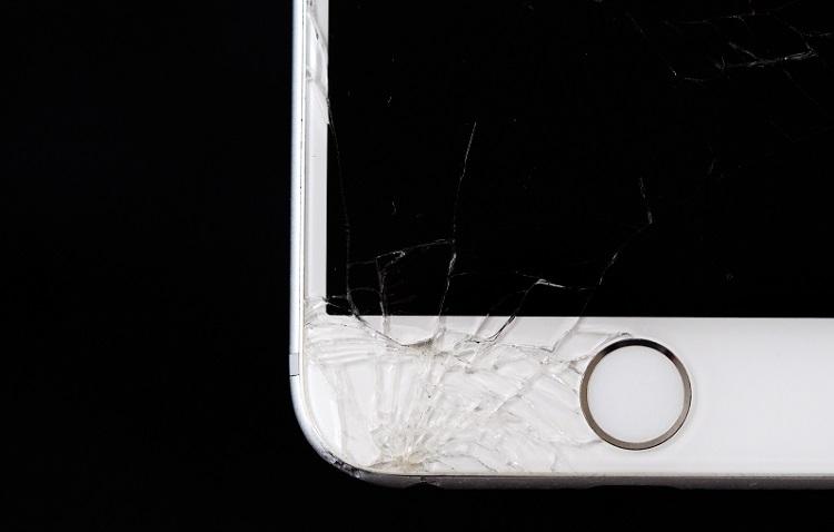 Cracked phone screen