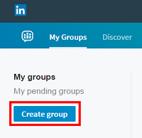 Create a LinkedIn group button