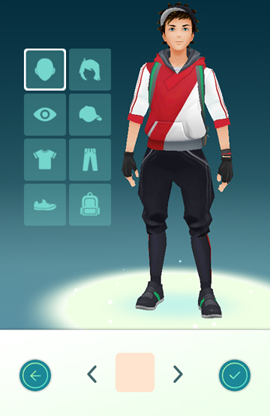 Creating your Pokémon Go avatar