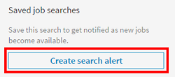 Create search alerts