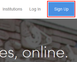 Coursera sign up button