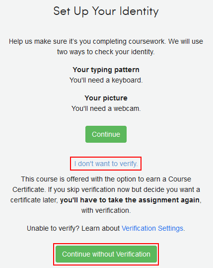 How to verify your identity on Coursera