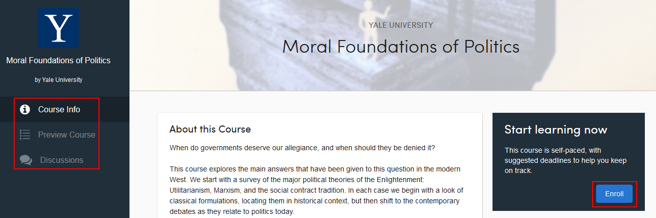 How to preview and enroll in a Coursera course