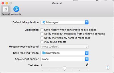 Customize settings menu