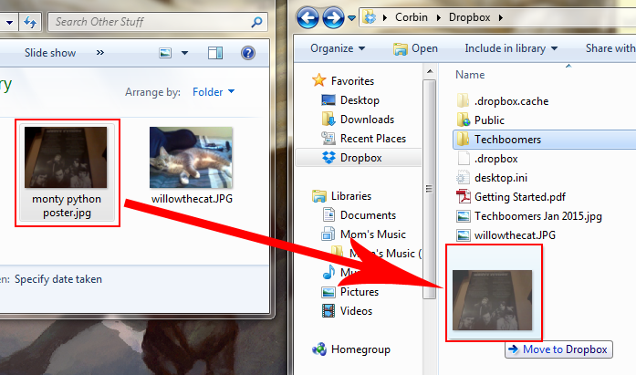 how to create a file in dropbox