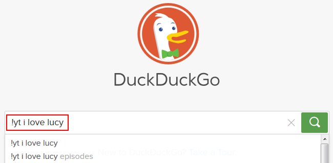 Searching on DuckDuckGo using bangs