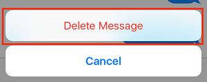 Delete Message button