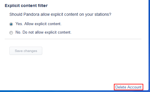 How to delete your Pandora account