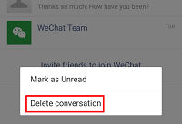 Delete WeChat conversation