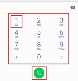 Dial number for voicemail