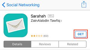 Download Sarahah app