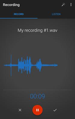 Voice recording app screenshot