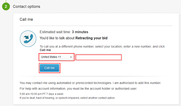 Select country and enter phone number