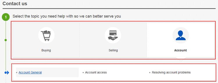 General eBay help topics