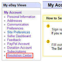 eBay Resolution Center