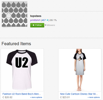 eBay store front