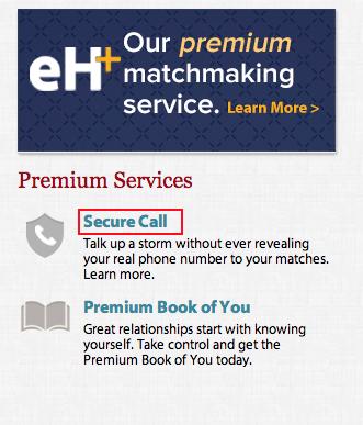 Eharmony secure call