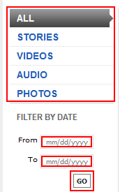 ESPN.com content and date search filters