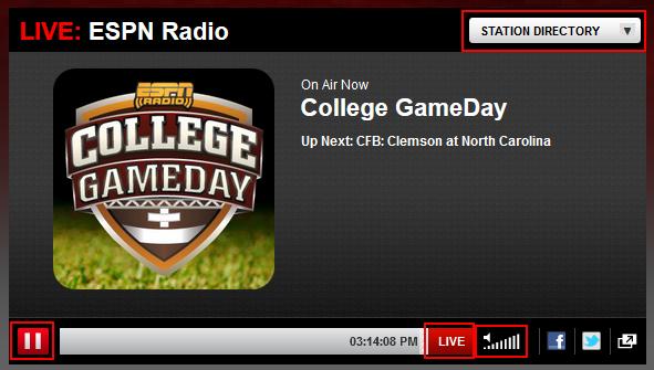 Listen live to ESPN Radio