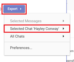 Export This Chat button