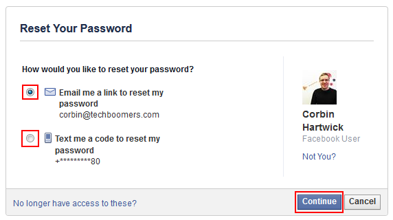 Will password my not facebook accept Android Phone