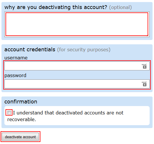 How to fill out the form for deleting your Reddit account