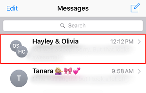 Find a group message